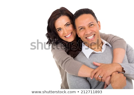 Attractive Middle-aged Couple Isolated On White Background ストックフォト © feverpitch
