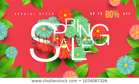 Shop Clearance Labels on Vector Web Posters Spring ストックフォト © robuart