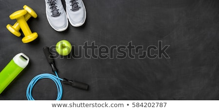 Fitness equipment on a dark background Stock photo © Zerbor