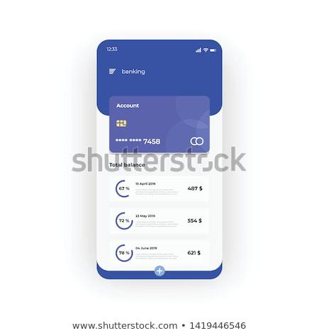 online banking blue templates stock photo © genestro