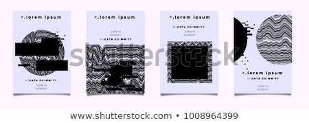 abstract glitch distortion lines background Stock photo © SArts