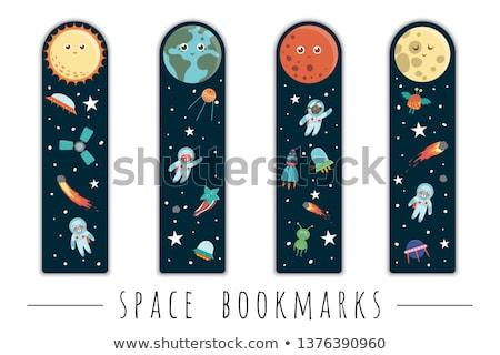 Espace astronaute battant sur vaisseau spatial illustration Photo stock © colematt