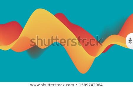 Stock fotó: Modern · hullámos · türkiz · névjegy · terv · iroda