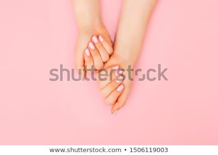 Manicure illustratie vrouw schoonheid spa nagel Stockfoto © adrenalina