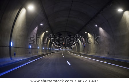 fények · alagút · színes · autó · út · fény - stock fotó © vichie81