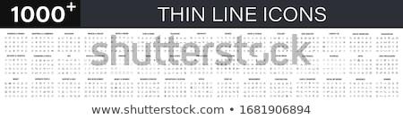 Set of 1000 thin line icons Stock photo © smoki