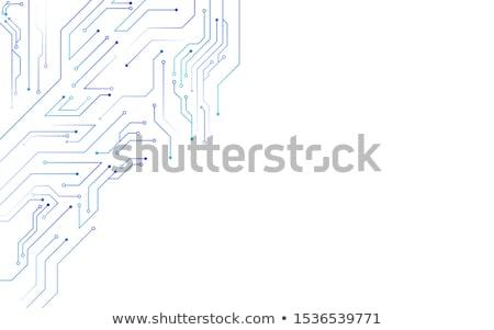 Tecnologia digitale circuito diagramma futuristico banner abstract Foto d'archivio © SArts