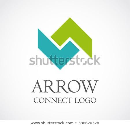 Blu infinito arrow vettore logo modello Foto d'archivio © kyryloff