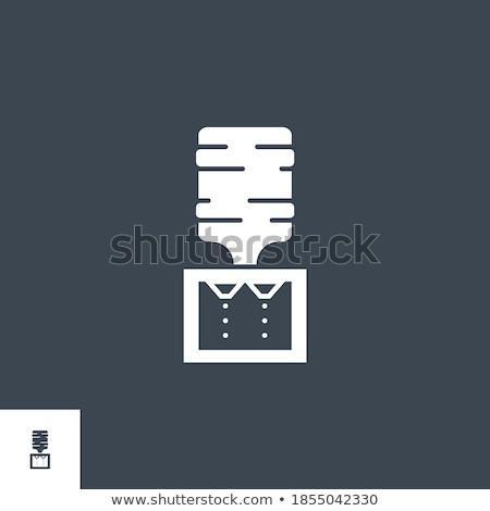Water Cooler related vector glyph icon. Stock photo © smoki
