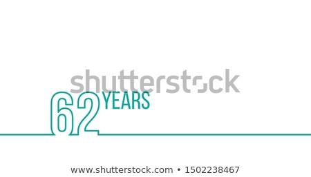 Yıl yıldönümü doğum günü doğrusal grafik Stok fotoğraf © kyryloff
