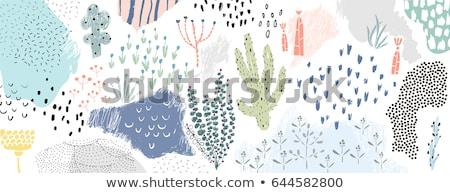 Jardinero mano planta Cartoon retro Foto stock © patrimonio