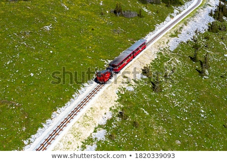 железная дорога Австрия COG ведущий вверх Сток-фото © borisb17