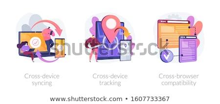Cross platform devices vector concept metaphor Stock photo © RAStudio