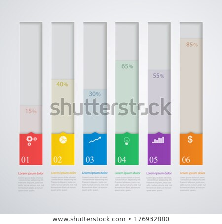 Graphs With Growth Columns and Numbers Vector Stock photo © robuart
