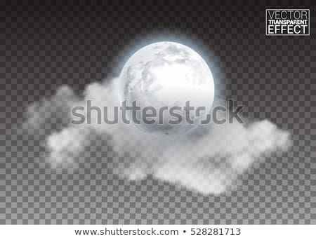 Designed Space Full Moon Planet Color Vector Stock photo © pikepicture