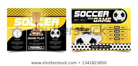 Futball bajnokság poszter sziluettek futball játékosok Stock fotó © -TAlex-