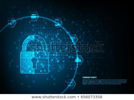Számítógép internet személyes adatbiztonság védelem szalag Stock fotó © -TAlex-