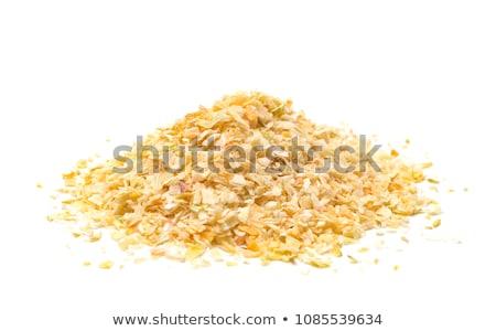 Secar cebola madeira tabela alimentação cozinhar Foto stock © tycoon