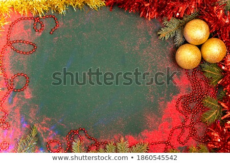Festive Christmas or New Year Background. Christmas Tree Branches with candy cane and light garland. Stock photo © olehsvetiukha