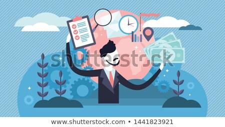 Trabalhadores consultor vetor negócio trabalhador Foto stock © robuart