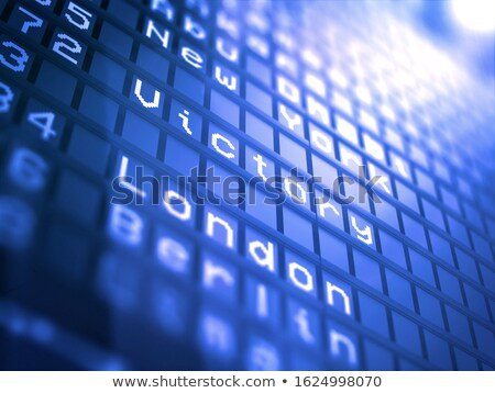 Goal on Airport Departure Board - Business Concept 3D. Stock photo © tashatuvango