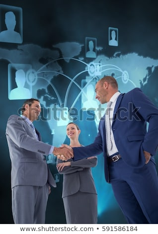 Digital Generated Human Hand And Businessman Shaking Hands Stock photo © AndreyPopov
