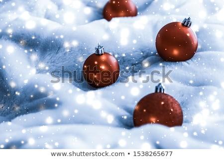 Bronz Noel mavi kabarık kürk parlak Stok fotoğraf © Anneleven
