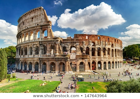 Ancient Roman Colosseum is one of the main tourist attractions i Stock photo © Zhukow