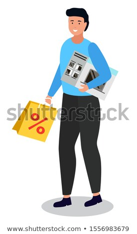 Shopping Personage Holding Purchased Items in Bags Stock photo © robuart