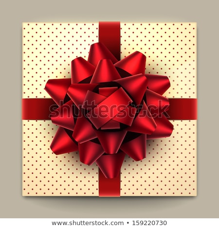 Square Present Box Tied with Ribbon and Big Bow Stock photo © robuart