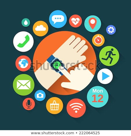 Smart watch and functions infographics Stock photo © ShustrikS