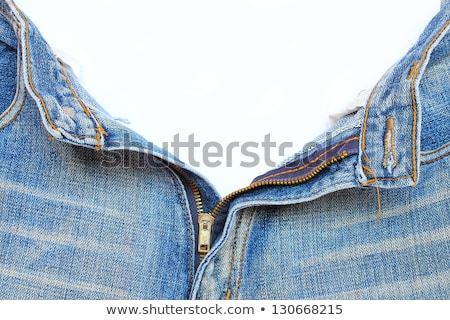 Open zipper of a worn out jeans Stock photo © manfredxy