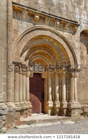 Santiago kerk Spanje tempel hemel kunst Stockfoto © borisb17