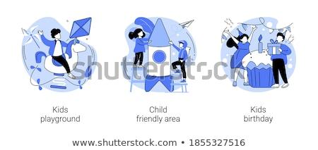 Children on playground vector concept metaphor Stock photo © RAStudio