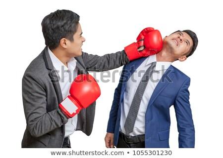 Jovem lutador sucesso boxe vitória Foto stock © Jasminko
