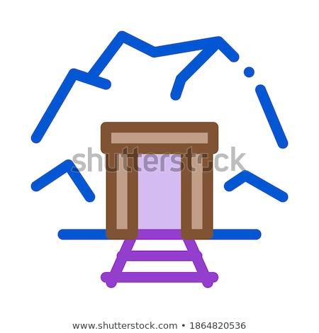 Mijn entree icon vector schets illustratie Stockfoto © pikepicture