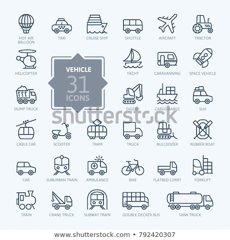 forklift car icon vector outline illustration Stock photo © pikepicture