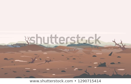 Destruction of Forests and Garbage Disposal Vector Stock photo © robuart