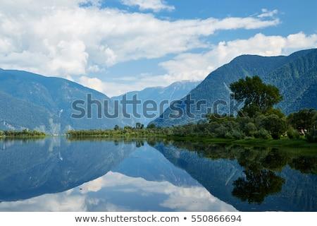 Lago montanhas mulher foto sibéria Foto stock © olira