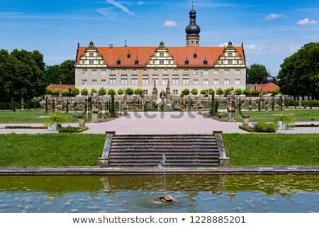 Palacio Alemania vista árbol edificio arte Foto stock © kyolshin