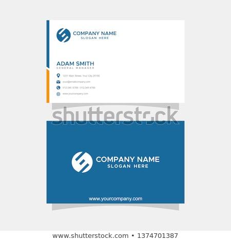Moderne premie visitekaartje sjabloon donkere grijs Stockfoto © orson
