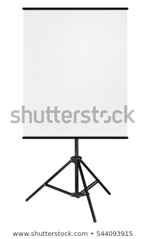 White blank roll-up on tripod on white Stock photo © evgeny89
