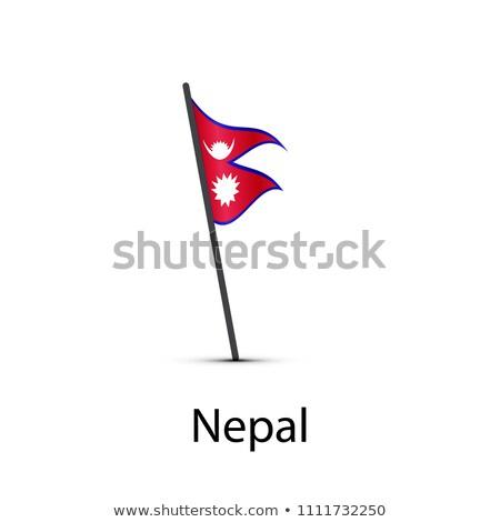 Nepal bandera polo infografía elemento blanco Foto stock © evgeny89