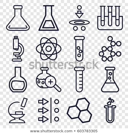 Mikroskopem test atom nauki medycznych Zdjęcia stock © yupiramos