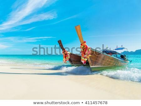 Hagyományos thai csónak panoráma tengerpart sziget Stock fotó © bloodua