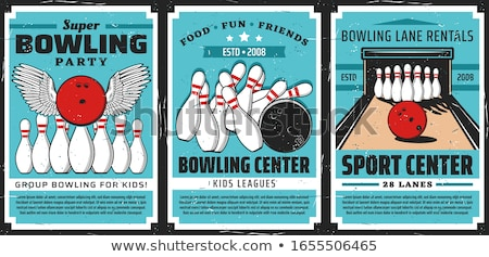 Target poster vector bowling bowler Stockfoto © pikepicture