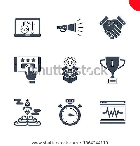 Kampania chronometraż wektora ikona odizolowany biały Zdjęcia stock © smoki