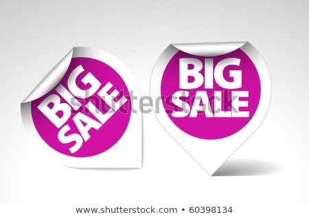 Szett lila árengedmény elemek jegyek címkék Stock fotó © orson