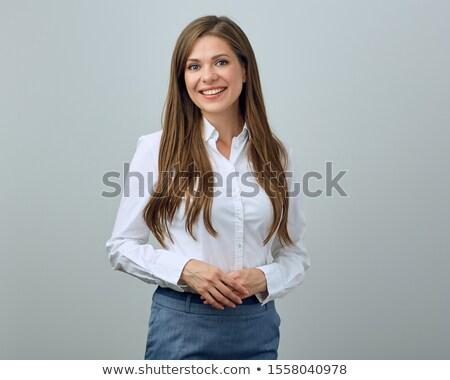 Jungen schönen positive Frau Gesicht sexy Stock foto © zurijeta