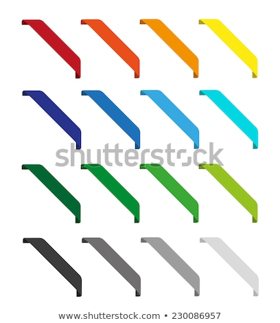 Stock photo: Sale red and orange corner ribbon